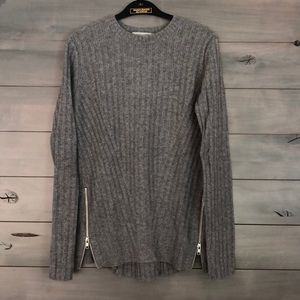 Autumn Cashmere Sweater with Side Zips